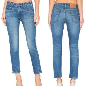 Levi's 505 C Cropped jeans in Blue Cheer
